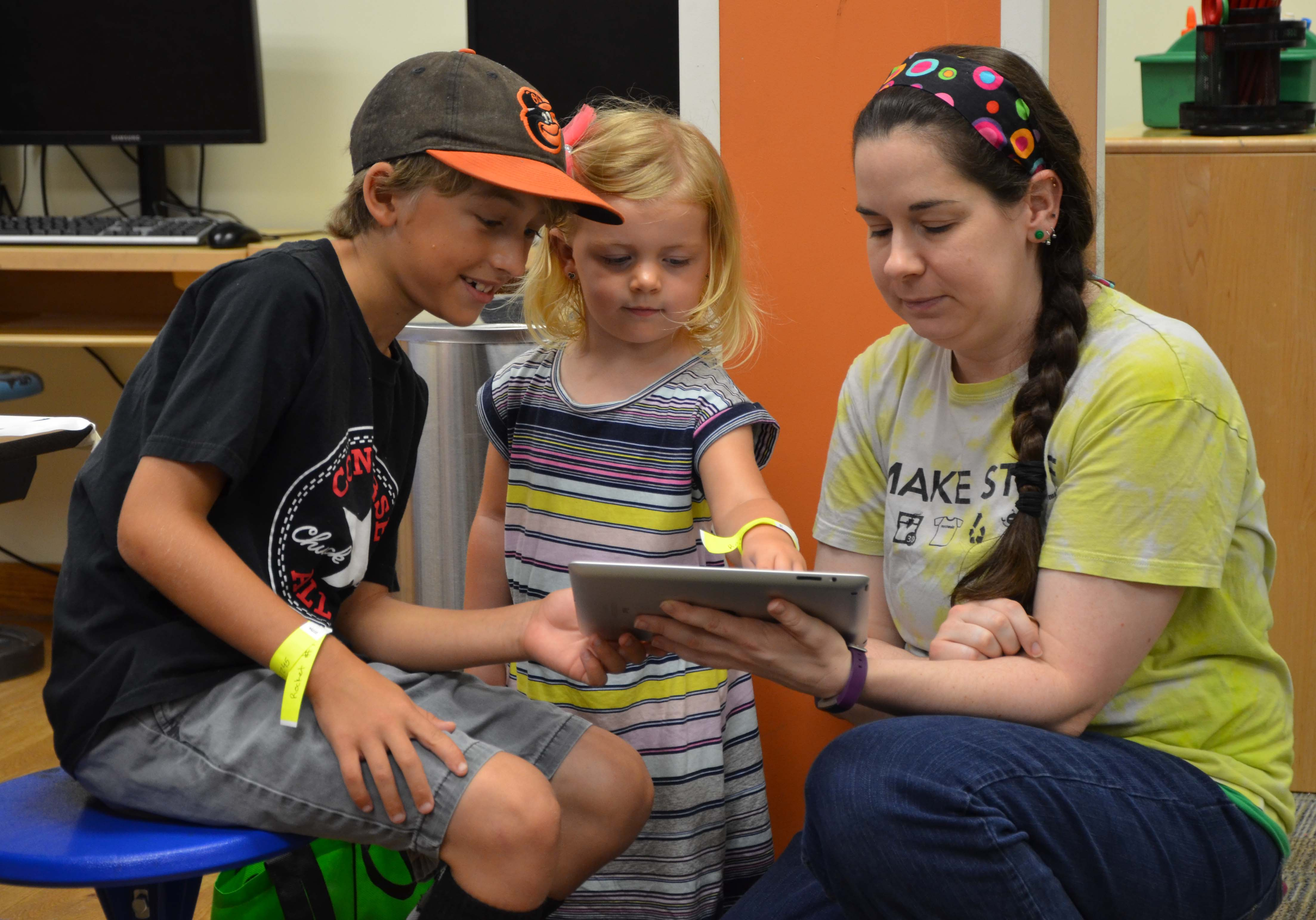Children and Teacher Tablet